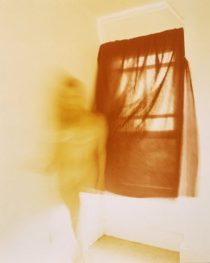 Kerry Parslow WOMAN WITH DOOR AND CURTAIN Women