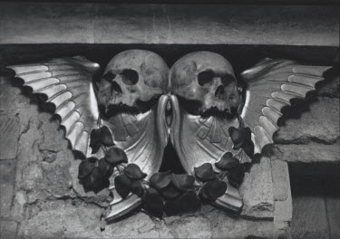 Marg Nicol STONE SKULLS WITH WINGS Statuary/Gravestones