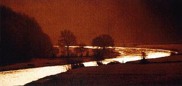 Vincent MacNamara RIVER AT SUNSET Lakes/Rivers