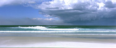Richard Eastwood BEACH WITH WAVES AND CLOUDY SKY Seascapes/Beaches