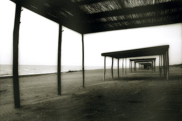 Lesley Aggar SHELTERS ON BEACH Miscellaneous Buildings