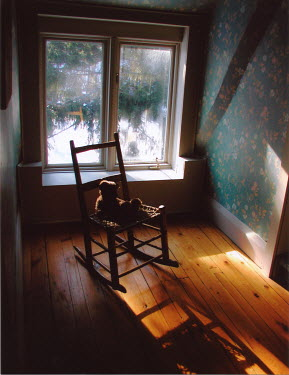 Pauline Thomas teddy in rocking chair Miscellaneous Objects
