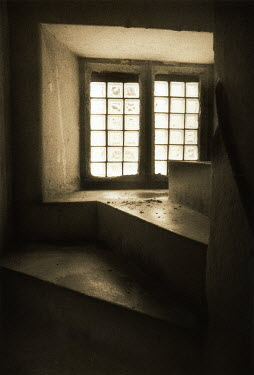Clive Vincent CLOSE UP OF WINDOW IN RUSTIC HOUSE Stairs/Steps
