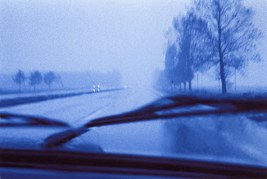 Brendan MacNeill VIEW OF MOTORWAY FROM CAR WINDSCREEN Roads