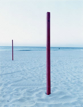 Tom McGhee WOODEN POLE ON BEACH See All Abstract/Conceptual