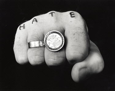 Michael Trevillion FIST WITH RINGS AND TATOO Body Detail
