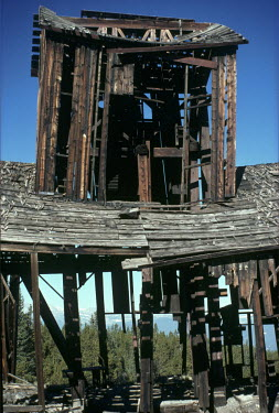 Bruce Chatwin CLOSE UP OF OLD MINE IN AMERICA Miscellaneous Buildings