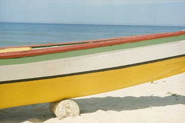 Bruce Chatwin PAINTED BOAT ON SANDY BEACH IN SUMMER Boats