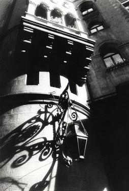 Michael Trevillion HANGING LAMP ON ORANTE BUILDING Miscellaneous Buildings