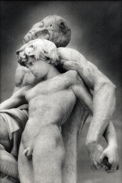 Michael Trevillion STATUE OF BOY AND MAN Statuary/Gravestones