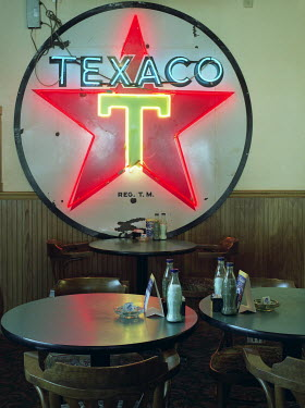 Tony Worobiec NEON SIGN IN DINER Miscellaneous Buildings