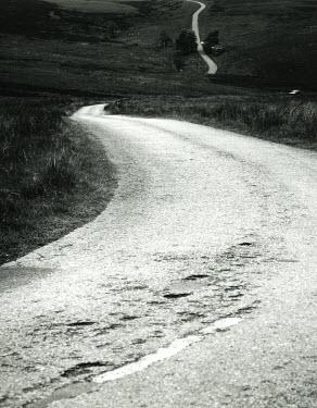 Clint Hughes COUNTRY ROAD THROUGH FIELDS Roads