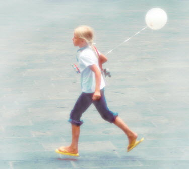 Colin New YOUNG GIRL WITH BALLOON Children