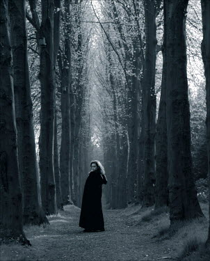 Colin New CLOAKED WOMAN IN FOREST Women