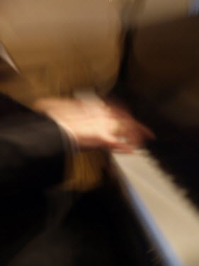 Jay Sinclair OUT OF FOCUS HANDS PLAYING PIANO Musical Instruments