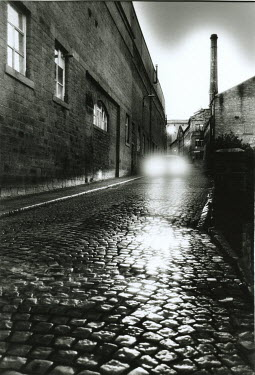 Michael Trevillion COBBLE ROAD WITH MOTIF IN TOWN Streets/Alleys
