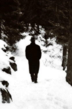 Ilona Wellmann MAN IN SNOWY FOREST Men