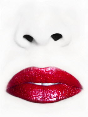 Ilona Wellmann CLOSE UP OF WOMAN WITH LIPSTICK Body Detail