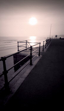 Steve Gosling SEASIDE PROMENADE WITH RAILING Seascapes/Beaches