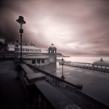 Steve Gosling SEASIDE PROMENADE WITH STONE STEPS Seascapes/Beaches