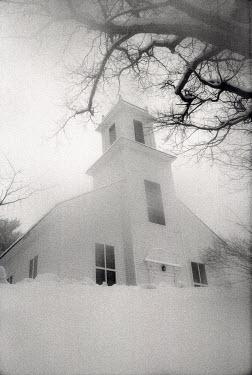 Joshua Sheldon CHAPEL WITH SNOW Religious Buildings