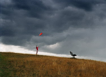 Elisa Noguera CHILD FLYING KITE Children