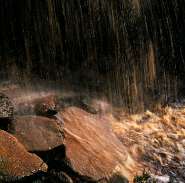 Clint Hughes WATERFALL ON ROCKS AND STREAM Miscellaneous Water