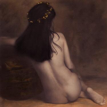 Brigitte Carnochan NAKED WOMAN SITTING DOWN Women