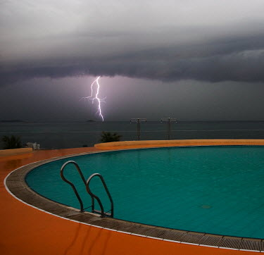 Stanislav Solntsev POOL WITH THUNDERSTORM IN DISTANCE Miscellaneous Places