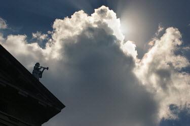 Paul Knight STATUE IN SILHOUETTE Statuary/Gravestones