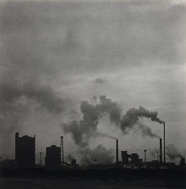 David Henderson INDUSTRIAL LANDSCAPE WITH SMOKING CHIMNEYS Miscellaneous Buildings