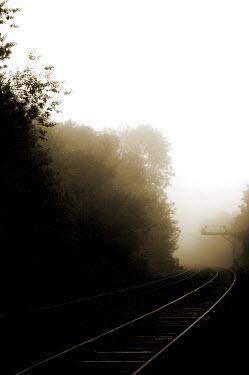 Stuart Brill RAIL TRACKS IN MIST Railways/Trains