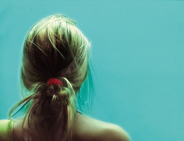 Yolande de Kort BLONDE GIRL BY BLUE WALL Women