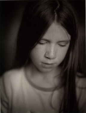 Andrew Sanderson GIRL WITH LONG HAIR AND FRECKLES Children