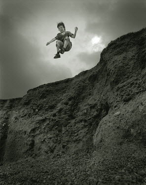 Andrew Sanderson BOY JUMPING OFF CLIFF Children