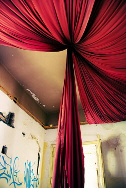 Claire Morgan TORN TENTED CEILING CURTAIN Interiors/Rooms