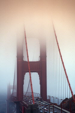 Trevor Payne GOLDEN GATE BRIDGE ON FOGGY DAY Specific Cities/Towns