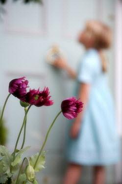 James Walker FLOWERS AND GIRL BY DOOR Children