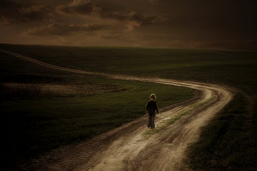 Marcin Bublewicz YOUNG GIRL ON COUNTRY ROAD Children