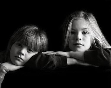 Maggie McCall TWO YOUNG GIRLS STUDIO SHOT Children