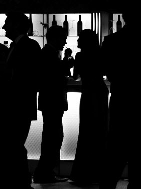 Claire Morgan SILHOUETTES AT BAR Groups/Crowds