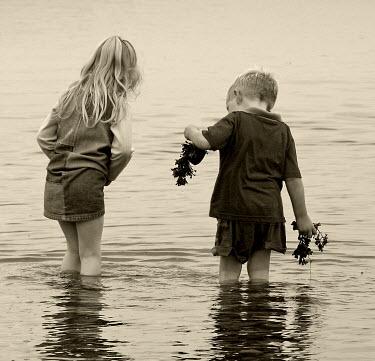 Maggie Brodie TWO CHILDREN IN SEA Children