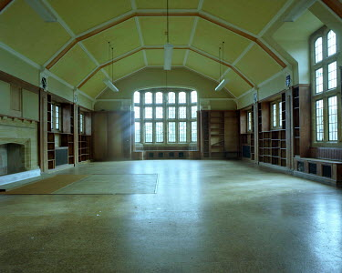 Jane Barker EMPTY LARGE UNIVERSITY HALL Interiors/Rooms