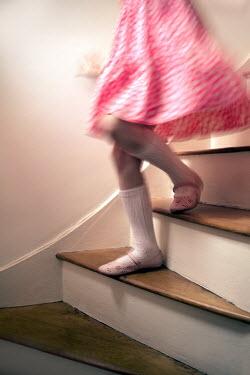 Paul Knight YOUNG GIRL WALKING DOWNSTAIRS Children