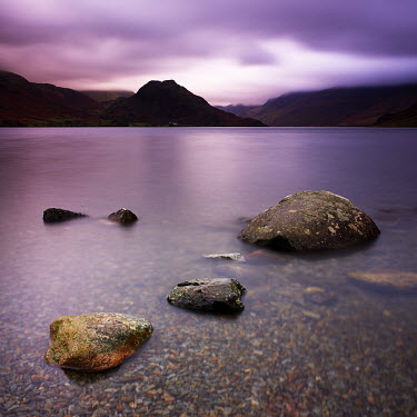 Steve Gosling TRANQUIL LAKE WITH LARGE ROCKS Lakes/Rivers