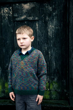 Paul Knight YOUNG BOY IN GREY SWEATER Children