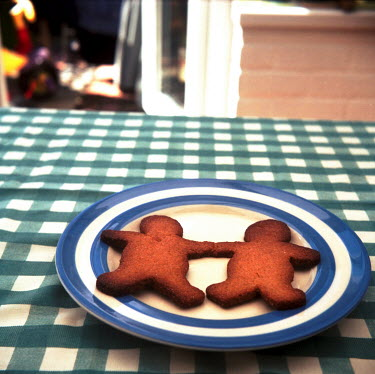 Janet Penny GINGERBREAD MEN ON PLATE Miscellaneous Objects