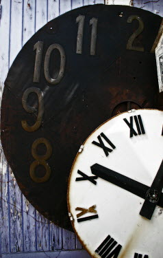 Colin Hutton TWO RUSTIC CLOCKS Miscellaneous Objects