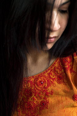 David Foster DARK HAIRED WOMAN CLOSE UP Women