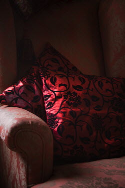 Jan Bickerton RED CUSHIONS ON SOFA Miscellaneous Objects